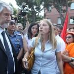 IL MINISTRO POLETTI INTERVIENE DAVANTI AI LAVORATORI DELLA CESI A SAN GIULIANO DI IMOLA