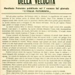 VELOCITA' MITO E DOLORE By MARIO ZACCHERINI